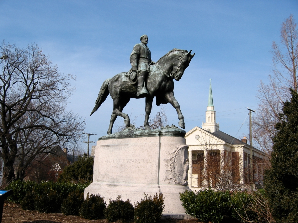 Robert E. Lee statue in Charlottesville that alt-right marched over